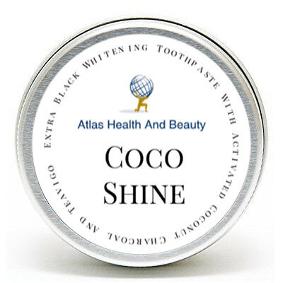 Coco Shine™ Extra Black Whitening Toothpaste with Black Charcoal & Teavigo