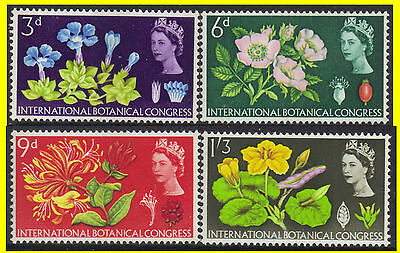 GB-UK 1964 Set of 4 10th International Botanical Congress Phos SG 655p-8p MNH