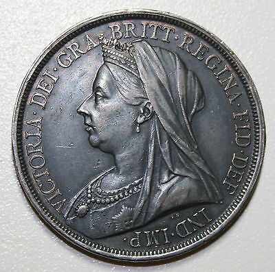 Great Britain Uk 1893 Lvi Crown Victoria Silver High Grade Coin Toned
