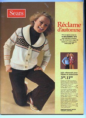 French SEARS 1979 FALL Store Catalog 160 Pages ~ Clean
