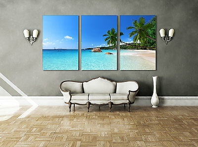 Framed Tropical Home Decor Beach Wall Art Pictures Modern Canvas Print Seascape
