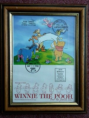 "Winnie The Pooh ""That Famous Bear"" First Day Issue Stamp Collectable Rare"