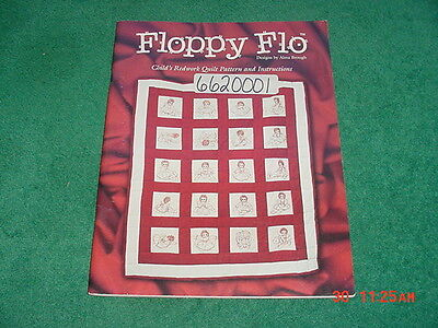 FLOPPY FLO By ALMA BROUGH RAGGEDY ANN STYLE REDWORK QUILT PATTERN Booklet