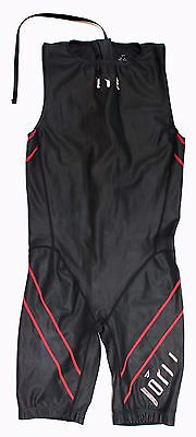 TYR Torque Men Sleeveless Tri Triathlon Short Swim Skin Wetsuit Medium Black
