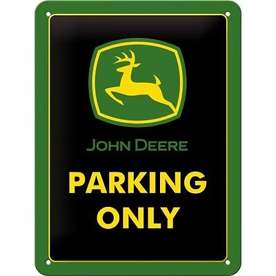 John Deere metal sign - Only Parking - Protected product - Embossed