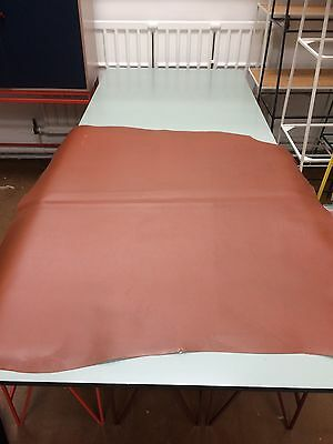 Large Piece Italian Tan Leather Vegetable Tanned for Belts, Bags, Upholstery