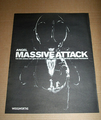 MASSIVE ATTACK - ANGEL - 1998 vintage ADVERT POSTER ORIGINAL