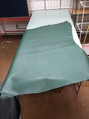Large Piece Italian Green Leather Vegetable Tanned for Belts, Bags, Upholstery