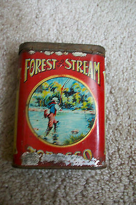 Rare Vintage Forest and Stream Tobacco Pocket Tin