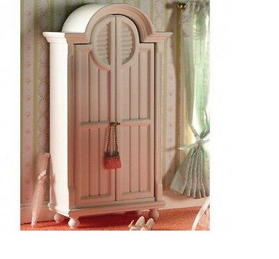 Dolls House Miniature 1:12th Scale White Wardrobe