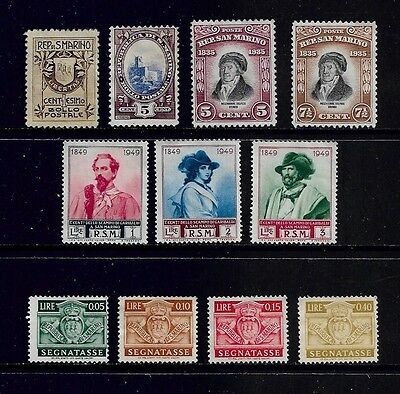 SAN MARINO - mixed early collection, from 1907 onwards
