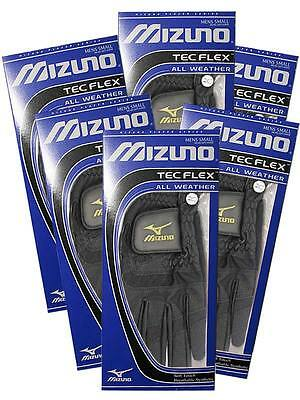 Mizuno TecFlex Pack Of 6 Golf Gloves Black