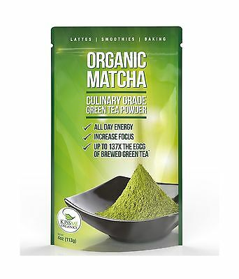 Matcha Green Tea Powder - Powerful Antioxidant Japanese Organic Culinary ... New