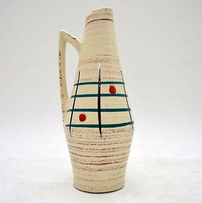 RETRO WEST GERMAN CERAMIC VASE / JUG BY SHEURICH VINTAGE 1960's