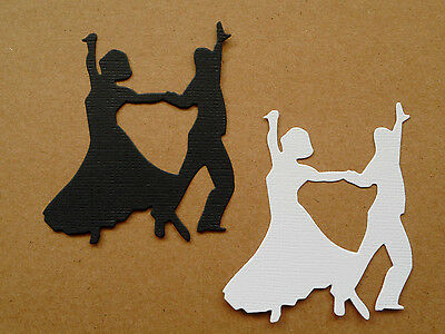 Couple Dancing Man Lady Paper Die Cuts x 10 Scrapbooking Card Topper