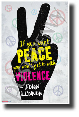 """""""If You Want Peace..."""" - John Lennon - NEW Famous Musician Quote Poster"""