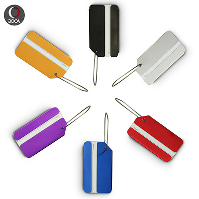 Travel Luggage Tag Labels For Baggage And Handbags,Secure Suitcase Aluminum Tags