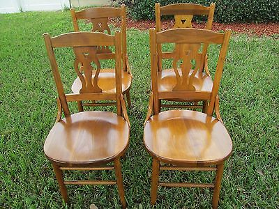 Set Of Four Mid Century Wood Chairs