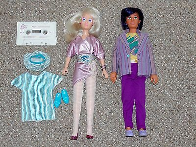 1987 Hasbro Jem & the Holograms Jem/Jerrica & Rio Doll Lot with Some Accessories