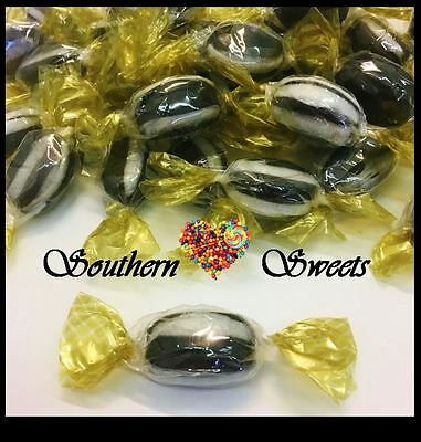 Everton Mints 1Kg Black & White Lollies In Clear Gold Wrap Hard Boiled Lollies