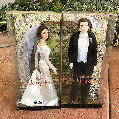 Barbie Collector Dolls as Wedding Bella & Edward Breaking Dawn Part 1 Pink Label
