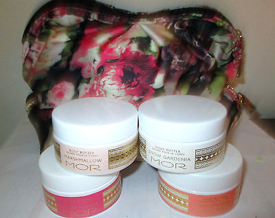 MOR MARSHMALLOW/LYCHEE/BELLADONNA/SNOW GARDENIA/blood  BODY BUTTER MAKE UP BAG