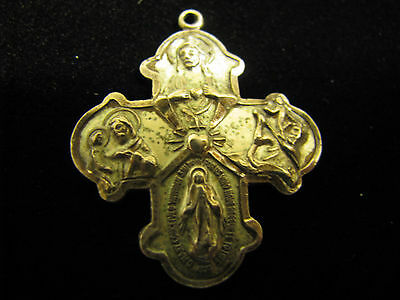 "Sterling Silver Hayward Religious Medal ""I am a Catholic Please Call a Priest"""