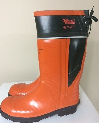 Viking Class 1 Chainsaw Resistance Tested Logger Boots Steel Toe Size 13