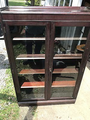 Antique Solid Mahogany Bookshelf