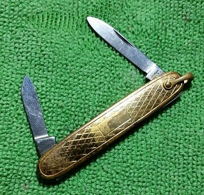 Vintage Gold Filled Folding Pocket Knife for Watch Chain FOB COLONIAL