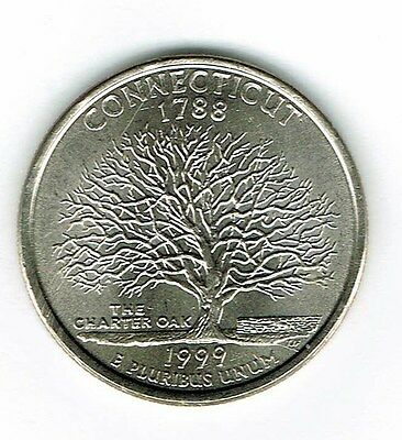 1999-D  Brilliant Uncirculated Connecticut 5TH State Quarter Coin!