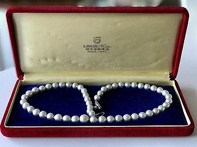 BEAUTIFUL 1960s MIKIMOTO SOUTH SEA PEARL NECKLACE 10 to 7.5 MM PEARLS - RARE