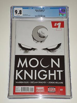 Moon Knight #1 (2014, Marvel) CGC Graded 9.8 Ellis, Shalvey Story and Art