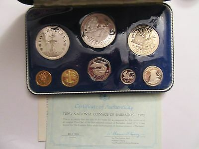 1973 Barbados 8 Coin Proof Set, Mint Package, 2 Silver Coin #2