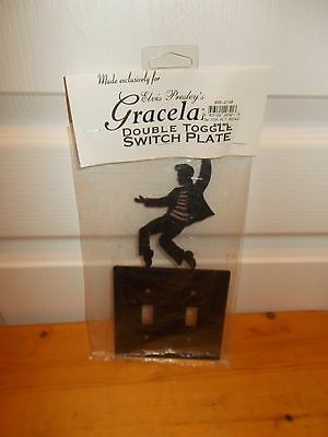ELVIS PRESLEY'S GRACELAND Double Toggle Switch Plate--Early 1990s