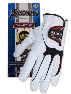 Srixon All Weather Pack Of 2 Golf Gloves White