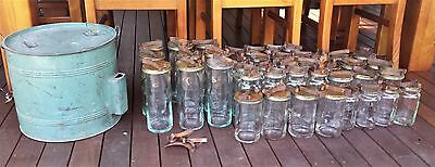 Vintage Fowlers Vacola Preserving Unit With Bulk Lot Of Assorted Jars And Lids