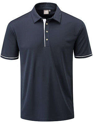 Ping Jasper Tailored Fit Polo - Navy