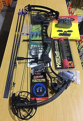 "Martin Afflictor Compound Bow Kit LH 70# Black 26-32"" draw, SECOND HAND"
