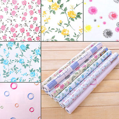 yazi Contact Paper Vinyl Self Adhesive Floral Wallpaper Drawer Liner Paper Roll
