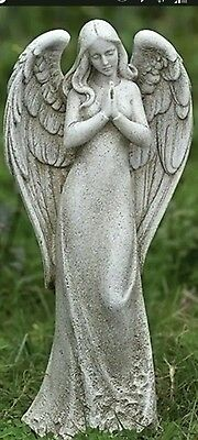 "Concrete plaster mold angel 14"" tall latex and fiberglass ready to ship"
