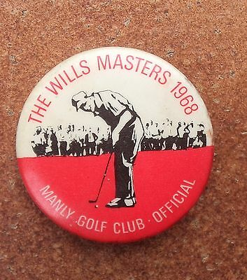 1968 Wills Golf Masters Sydney Manly Officials Badge