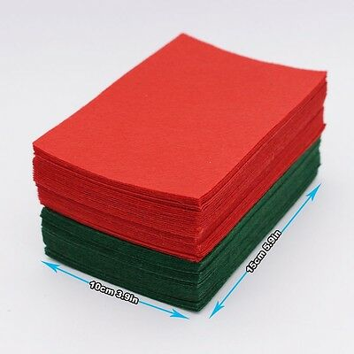 60 FELT SHEETS | Christmas Fabric DIY Crafts | Red & Green Xmas Felt