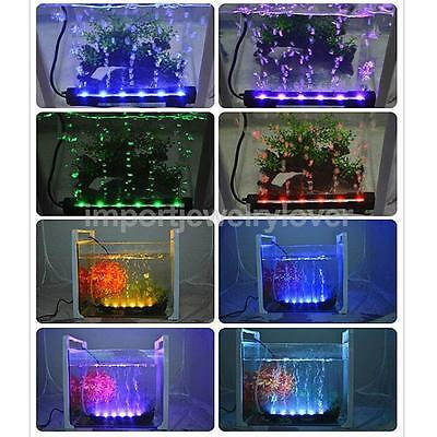 LED Aquarium Underwater Submersible Multi-color Air Pump Bubble Light-US Plug