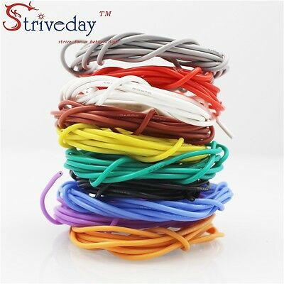 5 Meter 26awg Flexible Silicone Wire Outer Diameter 1.5mm 10 Colors Can choose