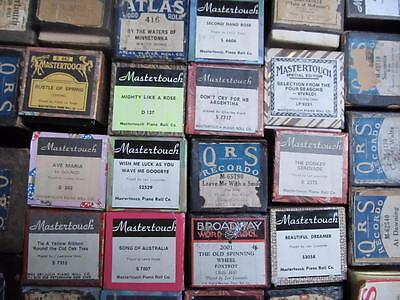 Over 200 Piano Pianola Rolls: 6 for $30, 10 for $40, 50 for $100 P/U W Footscray