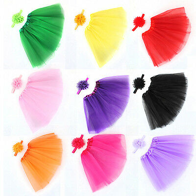 Toddler Newborn Baby Girl Tutu Skirt & Headband Photo Prop Costume Outfit