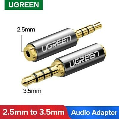 2.5mm Female to 3.5mm male Aux Adapter Audio GOLD PREMIUM HIGH QUALITY UGREEN