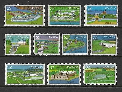 CANADA - 1983 Canada Day, Forts, 1st series, set of 10, used