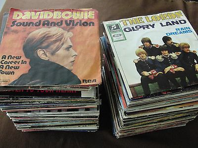 "LOT 200 Singles 7"" POP ROCK Disco Country usw. VG+ to M-"
